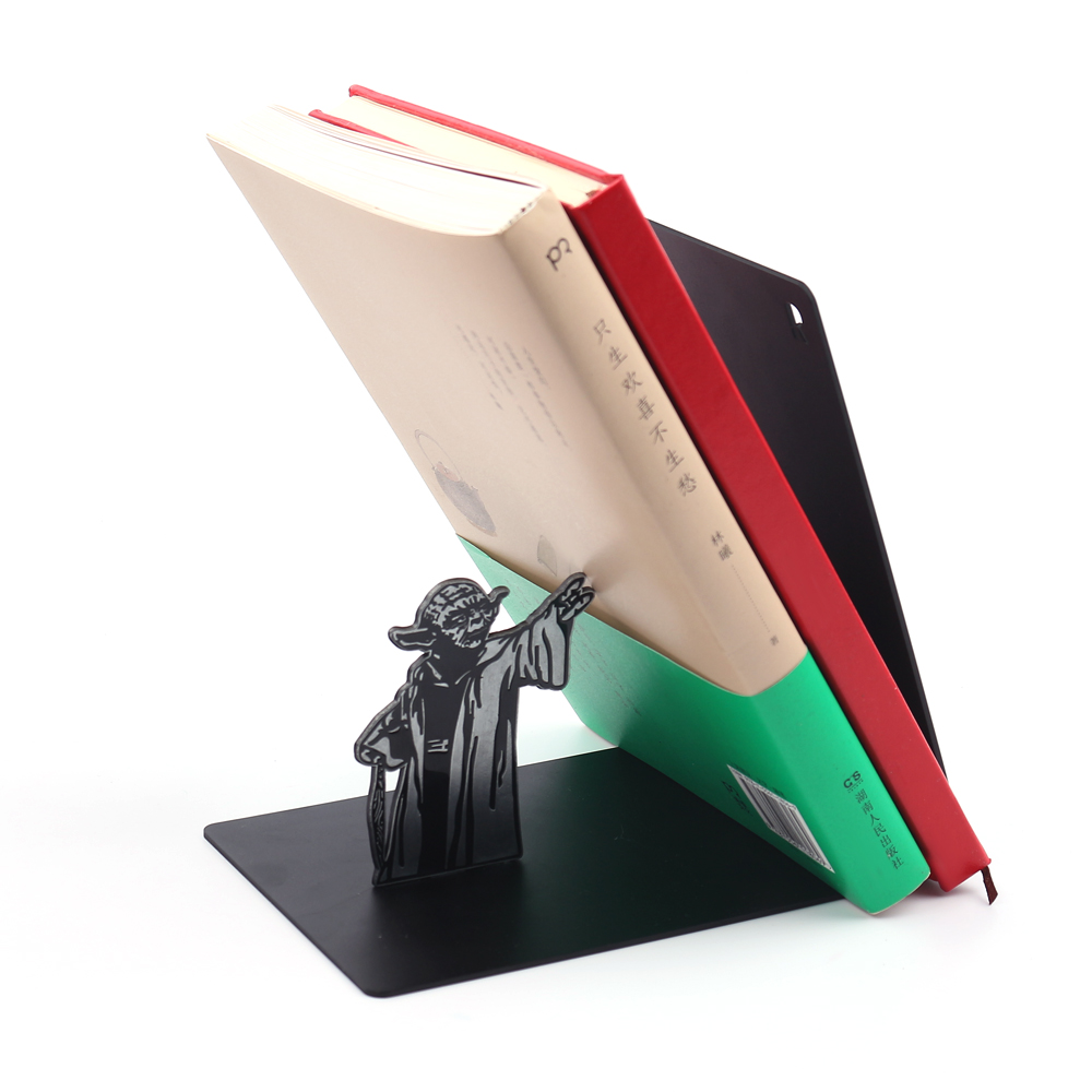 New Star Wars Master Yoda Stainless Steel Book Stop Bookcase High Quality Exquisite Study Decoration Student Reading Fetish Gift