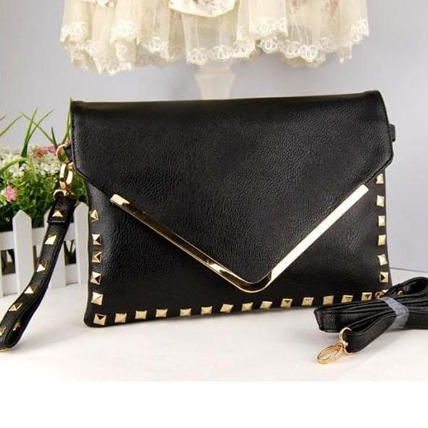 1pc Women Evening Bags Rivet Envelope Handbags Shoulder Bags Girls Ladies Messenger Bag New 2015 -- BIA156 PR30 Wholesale
