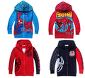 SY066 Frete grátis nova moda 2014 spiderman meninos casacos roupa dos miúdos primavera meninos jaqueta outwear camisola do hoodie varejo
