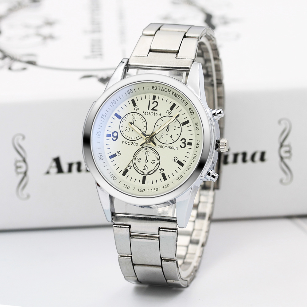 Luxury Crystal Women Bracelet Watches New Fashion Women Men's Quartz Wristwatch Blu-ray Gift Steel Belt Watch Male