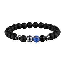 JAAFAR новая модель натуральный камень Лава мужской браслет 8 мм Lucky stone браслет женский браслет для людей AS303