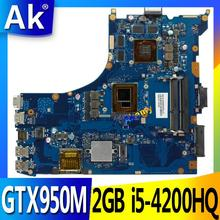 AK GL552JX Laptop motherboard for ASUS GL552JX GL552J ZX50J Test original mainboard GTX950M 2GB i5-4200HQ