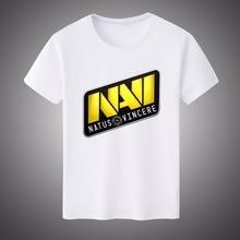 2017 New Summer Men Women DOTA 2 NAVI Game Team Casual Top Tees White Modal T-shirt Short-sleeved Shirt