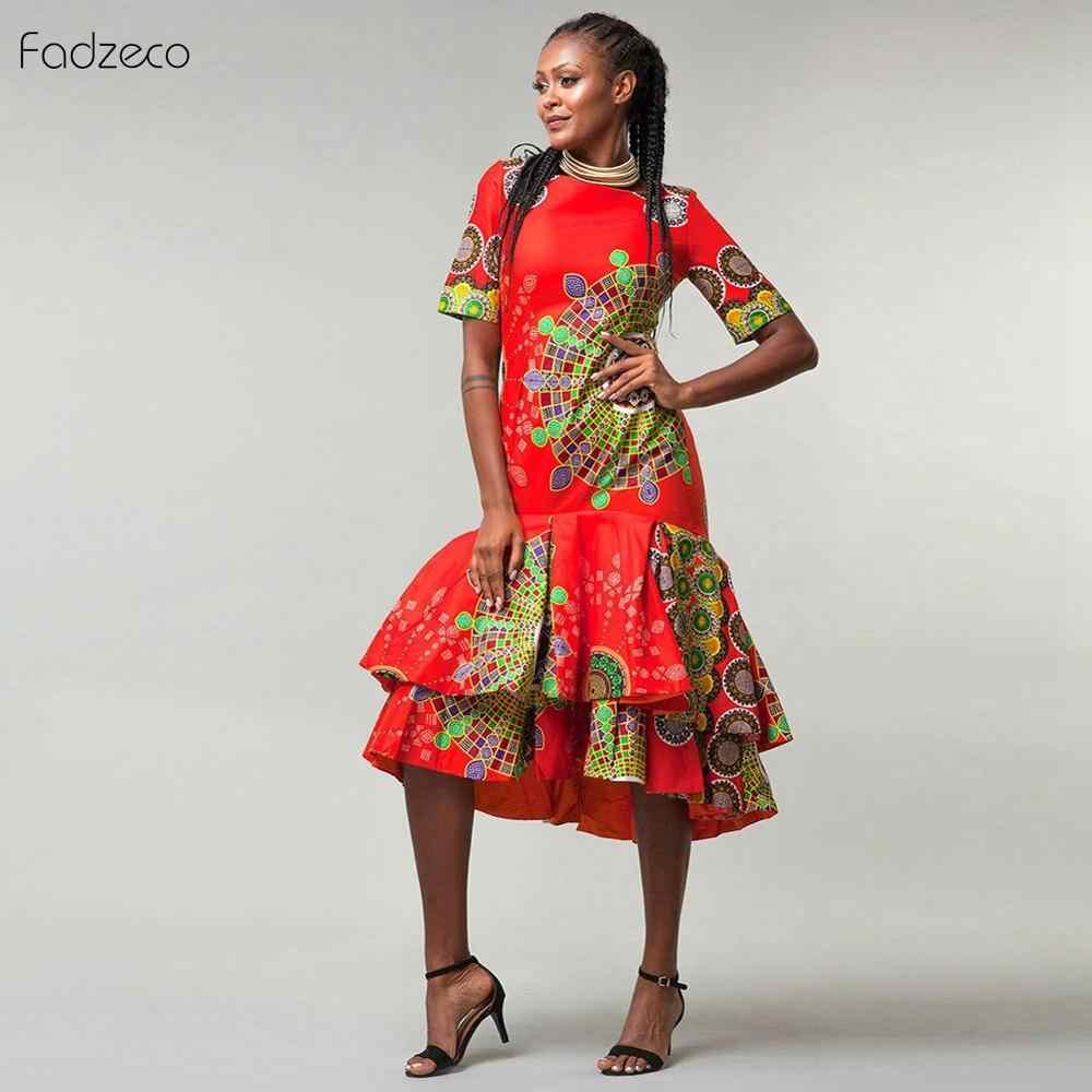 Fadzeco эластичное платье 2019 Новинка длинный халат африканские платья для женщин Bazin Riche африканская одежда Vestidos Dashiki вечерние каникулы