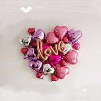 Script Love Foil Balloons Kit Love Theme Marriage Room Decor Bachelorette Party Ideas Propose Wedding Decoration