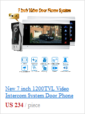 7 Inch Video Door Phone Monitor Intercom System Kit Night Vision 1200 TVL Doorbell Camera Recording SD Card Support 1V4