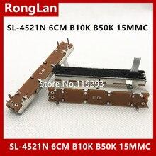 Potenciómetro único SL4521N, 6cm, 60mm, B5K, B10K, B20K, B50K, B100K, Budweiser, 1200D, longitud del eje Mono, 15mm 10uds./lote