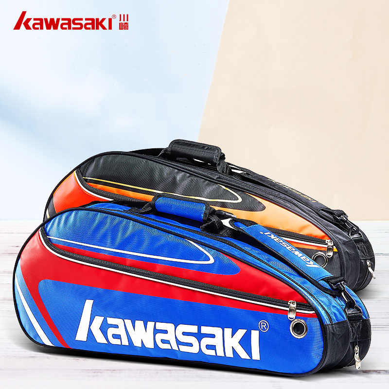 Tennis Kawasaki Bag Tennis Racket Bag 3 Rackets Single Shoulder Badminton Racquet Bag Badminton Tennis Racket Pack Raquete Tenis