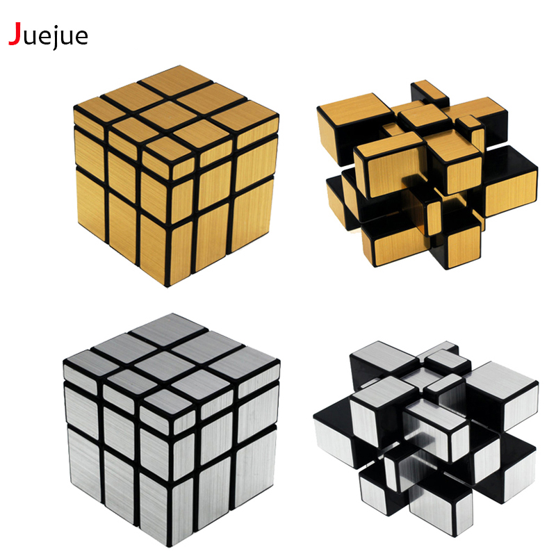 Gold Silver Color Magic 3x3x3 Fidget Cube Professional Cubo Toys for Kids Magico Mirror Puzzle Hand