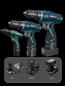 Image 2 - longyun 12V 16.8V 25V Adjust speed home Cordless Drill bit Electric screwdriver extra Battery Wrench with plastic box power tool