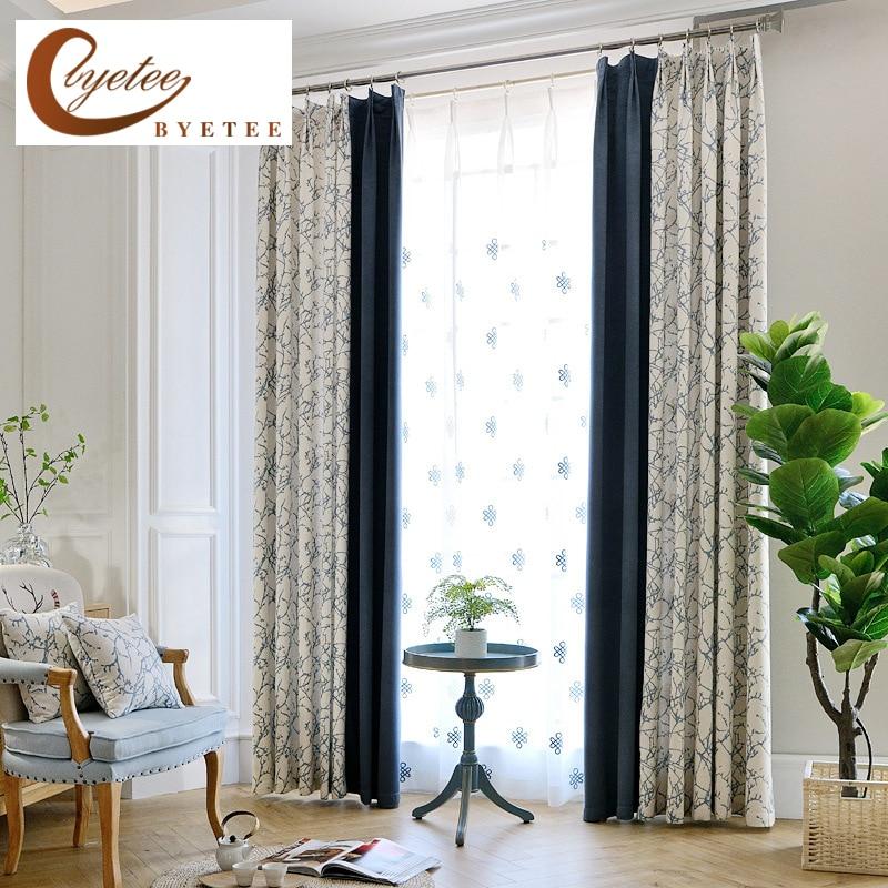 Byetee Modern Living Room Luxury Window Curtains Striped: [byetee] Blackout Window Modern Luxury Curtain Fabric