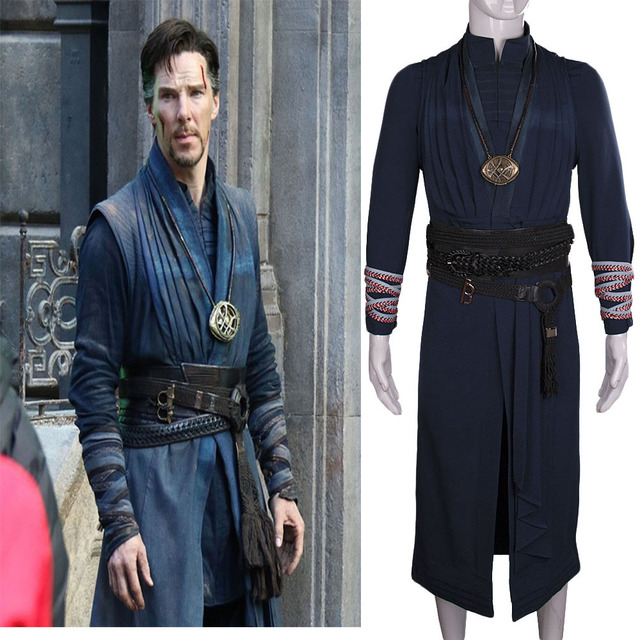 2016 Marvel Movie Doctor Strange Costume Cosplay Steve Red Cloak Full Set Costume Robe Halloween Costume 1