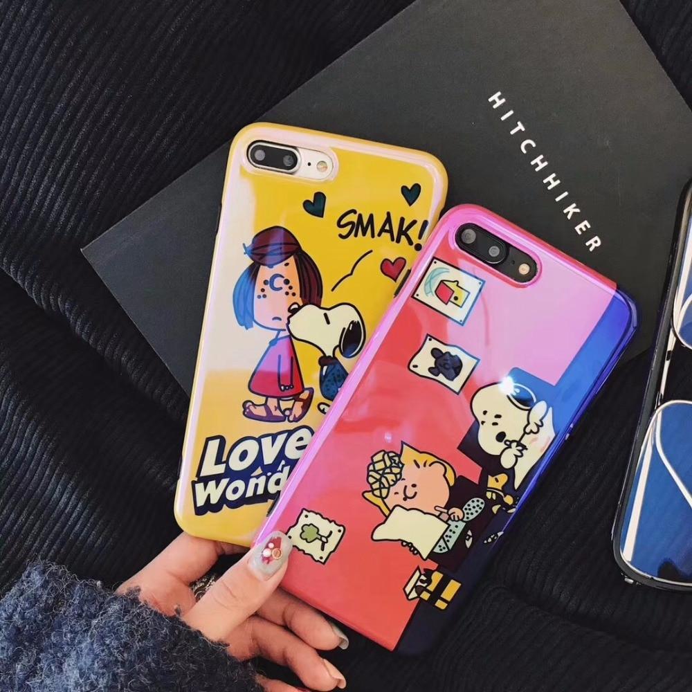 maosenguoji <font><b>blu-ray</b></font> Cartoon Dog love is wonderful Mobile Phone Case for iphone6 6s 6plus 7 7plus 8plus X fashion Couple case