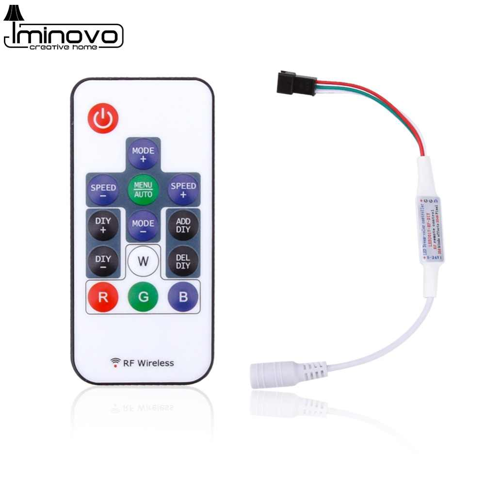 14 Key RGB Wireless Remote DC5V 24V Mini RF LED Controller for WS2812B WS2811 LED Strip Light