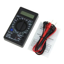 DT-830D Mini Pocket Digital Multimeter 1999 Counts AC/DC Volt Amp Ohm Diode hFE Continuity Tester Ammeter Voltmeter Ohmmeter richmeters rm100 multimeter 4000 counts back light ac dc ammeter voltmeter ohm 9 999mhz frequency diode