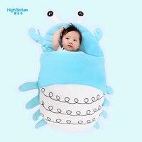 Cute Cartoon Ocean Baby Stroller Sleeping Bags Winter Baby Bed Sleep Sack Warm Baby Blanket Warm Swaddle In Striller Accessories