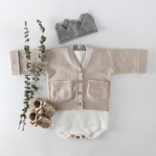 Newborn Baby Girls Clothes Autumn Infant knitted net Cardigan Coat Baby Boys Sweater Cotton Tops Jacket Baby Girls Outfits 2018 infant baby girls embroidered sweater girls autumn knitted sweater children kids tops girls clothes cardigan winter tops 10