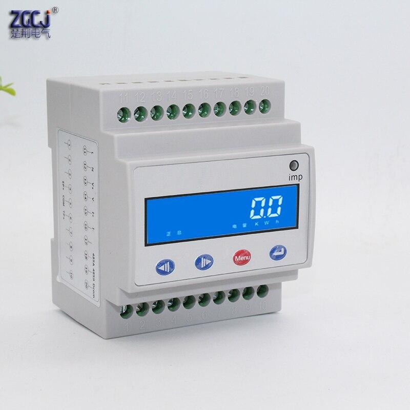 Charge pile DC 0-1000 V 100A Din type DC compteur d'énergie solaire photovoltaïque DC A V kWh compteur multifonction avec RS485