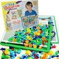 296 шт. дети мальчики девочки 7 изменение цвета творческий наконечником DIY гриб бусины 3 D просвещения образовательные игрушки