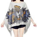 Animal pattern new fashion women spring autumn knitted sweater batwing sleeve tassel O neck loose casual femme pullover sweaters