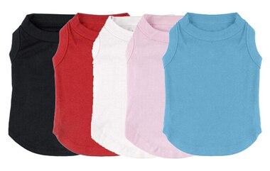 12pcs Lot Pet Blank Plain Soft Cotton Dog Shirt Tee Shirt Summer