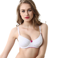 Women S Comfort Plus Size Bra 100 Cotton Polka Dot Underwire Bras For Girls Women 44