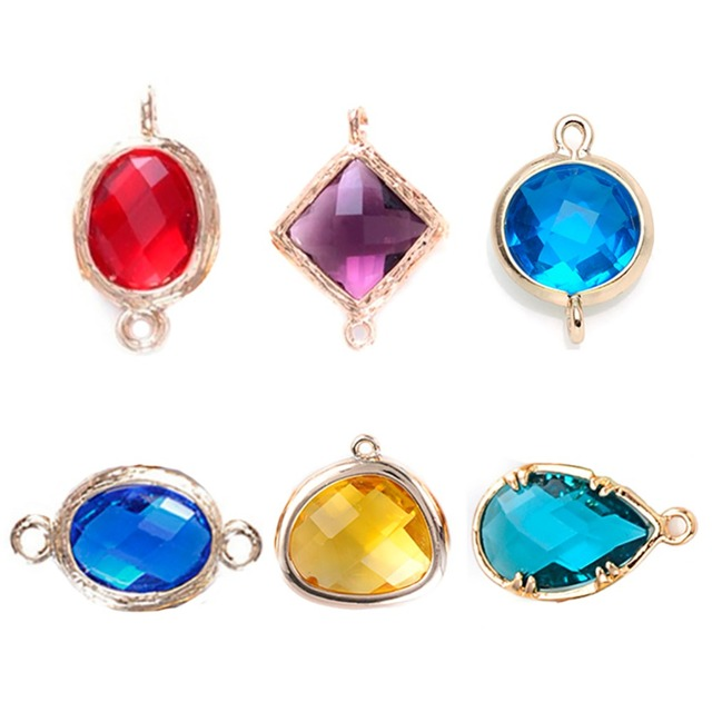 24pcs mixed oval faceted framed charms cz zircon birthstone necklace 24pcs mixed oval faceted framed charms cz zircon birthstone necklace pendants glass bezel bracelet connector for aloadofball Choice Image