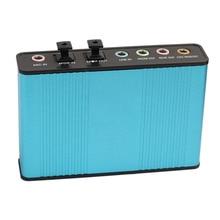 Etmakit External Sound Card USB 6 Channel 5 1 Surround Adapter Audio S PDIF Optical Sound