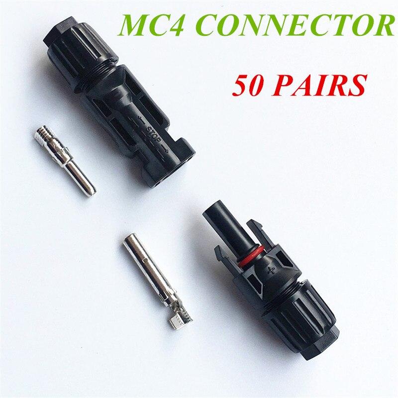50 Pairs X MC4 Male Female Solar Panel Cable Connectors Plug [vk] 553602 1 50 pin champ latch plug screw connectors