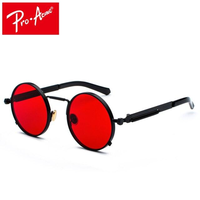 23abb067cbb Pro Acme Round Gothic Steampunk Sunglasses Men Women Retro Sun Glasses  Brand Design Mirror Lens Eyeglasses