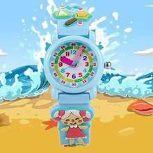 019db586374 Padrão de Coelho meninas Crianças Relógios 3D Rubber Strap Quartz Crianças  Assista Bonito Dos Desenhos Animados Crianças Relógio.