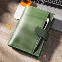 Yiwi Creative Leather Notebook A5 A6 Loose Leaf Spiral Notebook Diary Kawaii Notebooks and Jourals Cute Agenda Planner