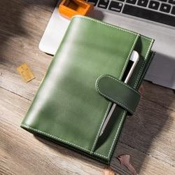 Yiwi cahier en cuir créatif A5 A6 carnet à spirale à feuilles mobiles journal Kawaii cahiers et Jourals planificateur d'agenda mignon
