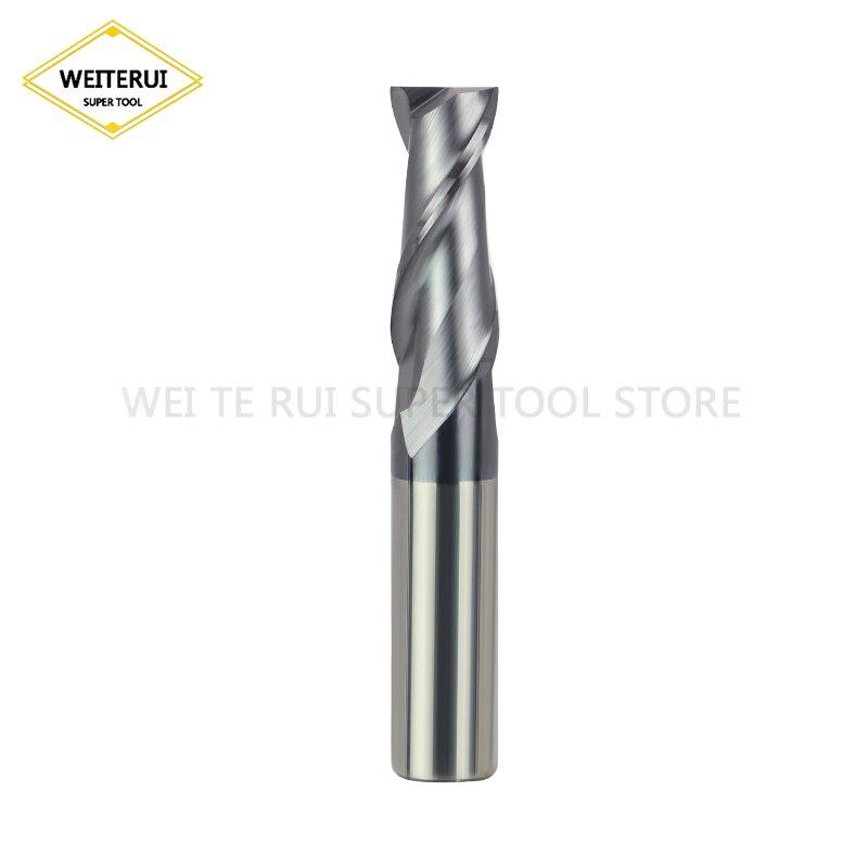 Купить с кэшбэком 1PC 2 Flute Endmill Cutting HRC50 2mm 3mm 4mm Alloy Carbide Milling Tungsten Steel Milling Cutter End Mill