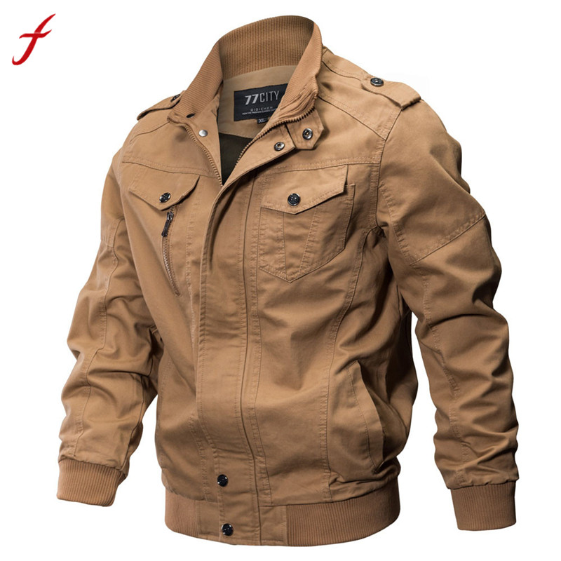 fdb27d38511a4 Feitong jackets men Clothes Coat Military bomber men jackets Tactical  Outwear Breathable Light Windbreaker plus size