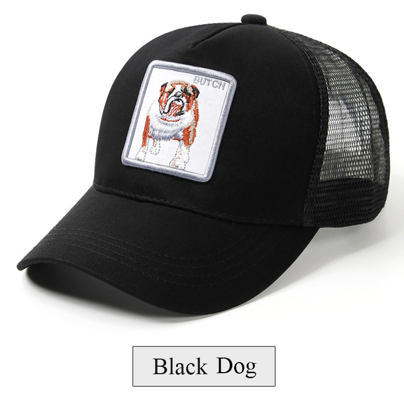 16a00fecc Black Snapback Baseball Cap Men Women Animal Farm Trucker Cap Hat Summer  Breathable Mesh Dad Hat Hip Hop Men Caps Hats Bone 2019
