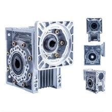 NMRV030 57 мм червячный редуктор коэффициент уменьшения 5:1 до 80: 1 вход 11 мм вал для NEMA23 шаговый двигатель