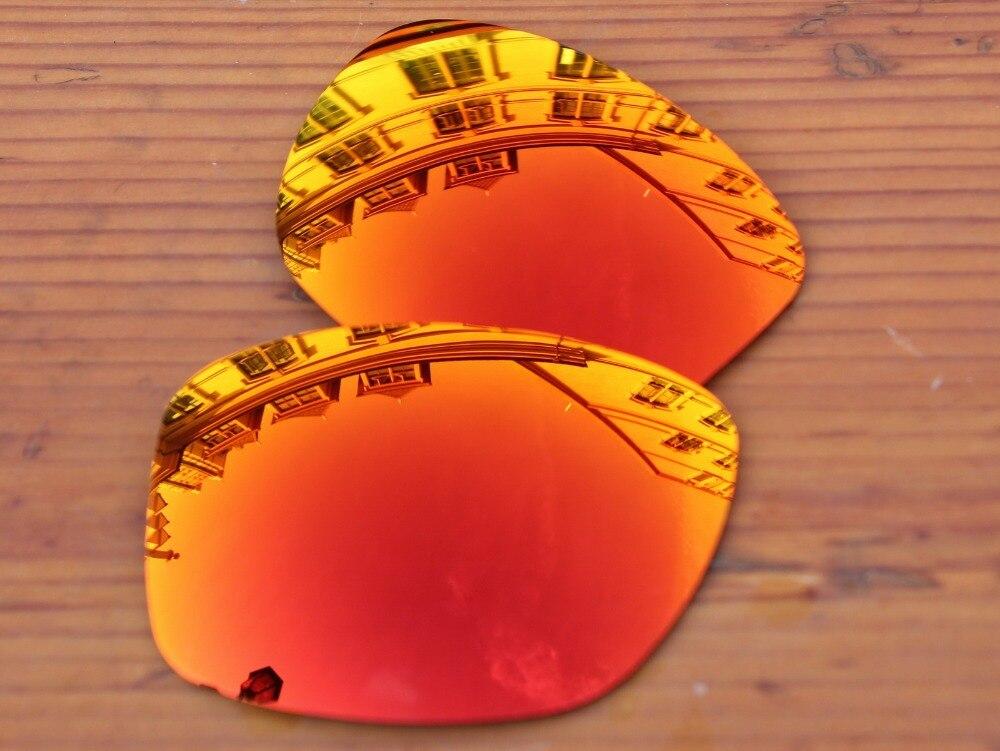 Fire Red Espelho Polarizado Lentes de Substituição Para O Jupiter Squared  Óculos De Sol Quadro 100% UVA   Uvb 34d639c932