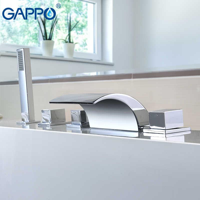 GAPPO ก๊อกน้ำอ่างอาบน้ำ bath ฝักบัวห้องน้ำก๊อกน้ำชุดน้ำตกก๊อกน้ำอ่างอาบน้ำผสม banheira ก๊อกน้ำ