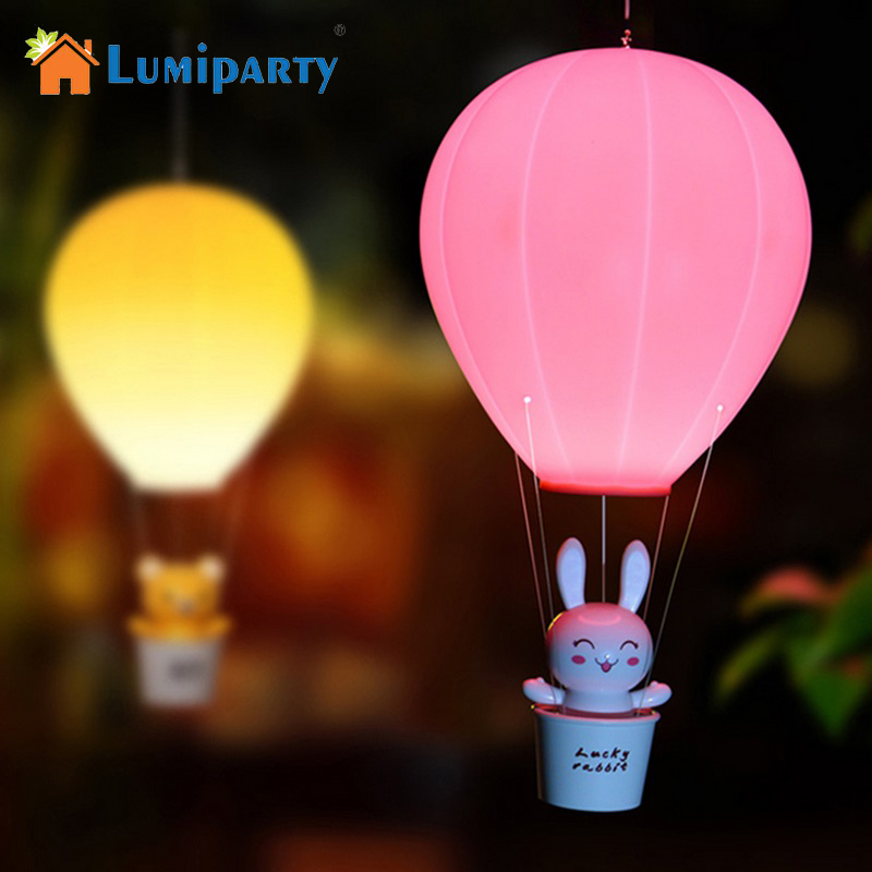 Us 12 72 33 Off Lumiparty Dimmable Air Balloon Led Night Light Children Baby Nursery Lamp With Touch Switch Usb Rechargeable Wall For Kids In