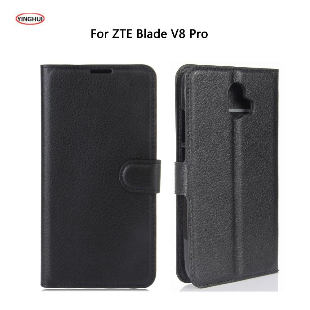 Yinghui lujo pu leather case para zte blade coque v8 pro case flip 5.5 \