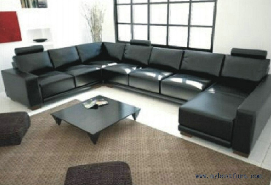 Free Shipping Large U Shaped Cofortable High Quality Living Room Furniture Sofa Set S8559