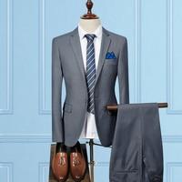 Man's Suit Male Suit Twinset Self cultivation Business Affairs Correct Dress Occupation Dress W6503/P155 Jacket 100 Dark Grey