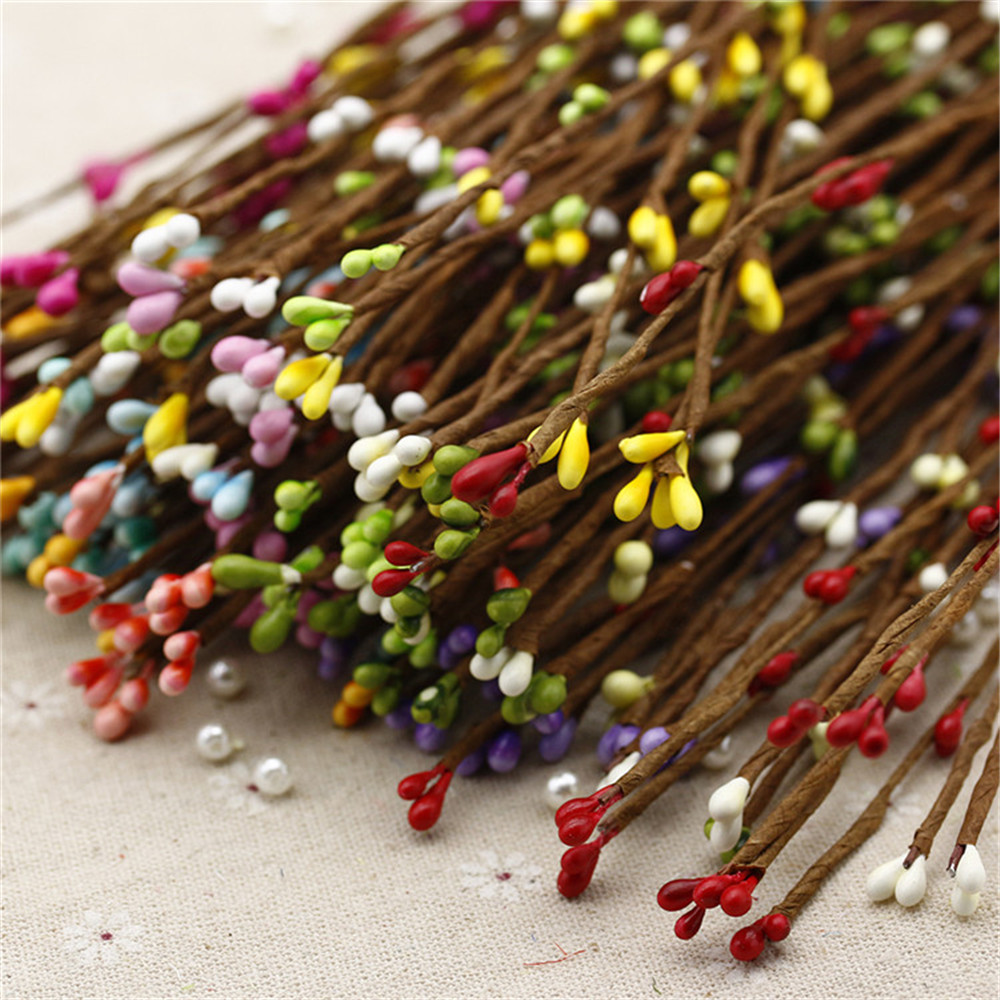 cheap 10PCS High Quality Artificial Wreath Flower Small Berry Rattan pip berry garland for DIY party wedding banquet