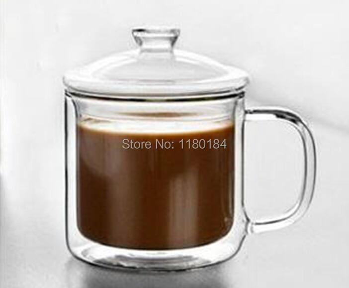1 UNID Doble frasco de vidrio retro clásico grande taza de té de - Cocina, comedor y bar