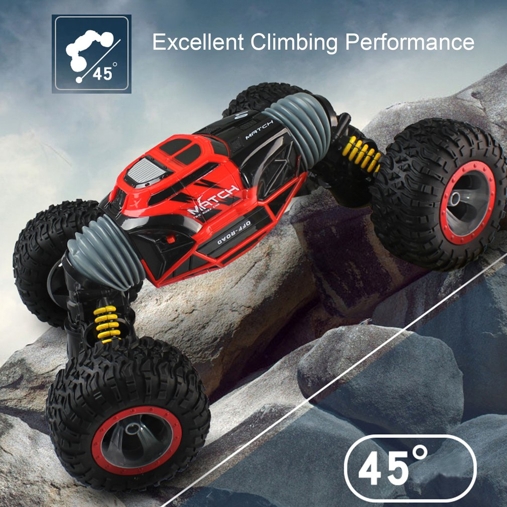 RC Car 4WD Truck Scale Double sided 2.4ghz One Key Transformation All terrain Vehicle Varanid Climbing Car Remote control Toys