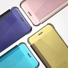 Clear Mirror Flip Case For Samsung Galaxy S6 Edge Plus S7 S5 Note 5 Note 4 Cover Case For Samsung Galaxy S8 Plus S7 Edge Note 8
