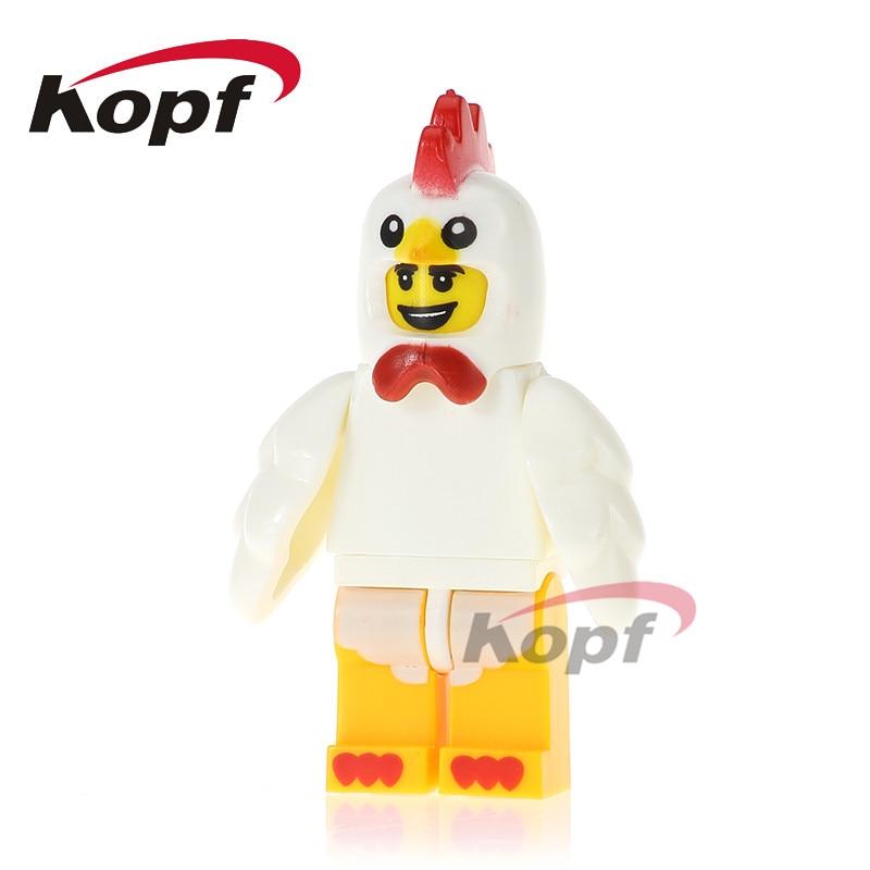 PG1031 Building Blocks Chicken Suit Inhumans Royal Family Bricks Toys Educational Children Model Action Collection Gift Children