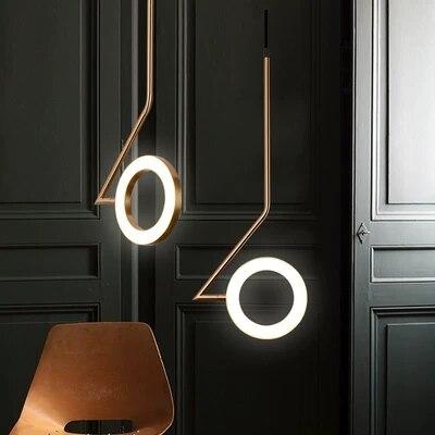 Нордический подвесной светильник, прикроватный светильник для спальни, люстра для ресторана, современная люстра, бар, латунь, Креативный св