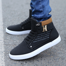 Nice New Men Shoes Casual Shoes Lace-up Flat Heel Canvas Shoes Fashion Cotton Men Buckle Thermal Casual High-Top Fashion